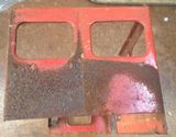 Original Tri-ang / Triang Large pressed steel Double decker Lower Left hand side panel Red [ price is per panel ]